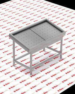 прилавок для рыбы ROSINOX 1500x800x1050