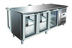 холодильный стол со стеклянными дверьми Gastroinox