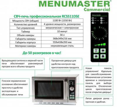 СВЧ-печь Menumaster RCS511DS